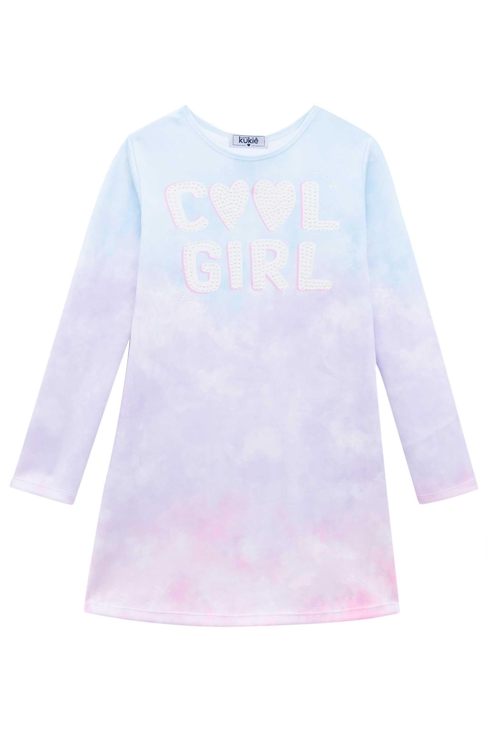 Vestido Kukie Inverno Tie Dye Cool Girl