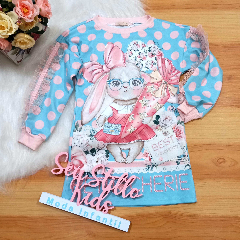 Vestido Petit Cherie Inverno Coelhinha