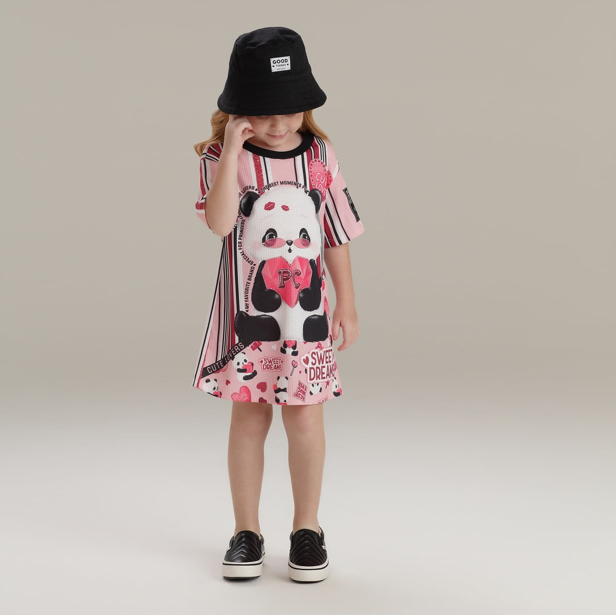 Vestido Petit Cherie Panda Lovers