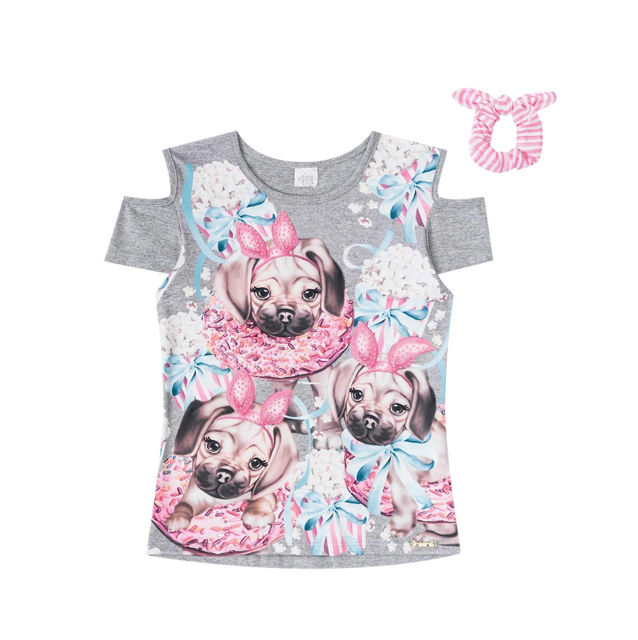 Blusa Infantil Cachorro Infanti