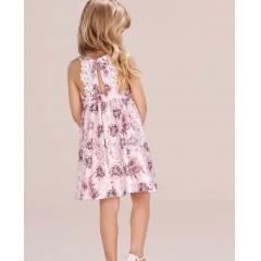 Vestido Infantil Cavado Rosa Infanti