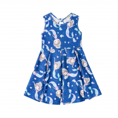 Vestido Azul Sereia Menina - Kukie
