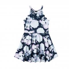 Vestido Infatil Preto Cavado Infanti