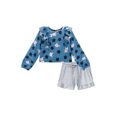 Conjunto Kukie Inverno Shorts e Blusa Estrela