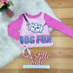 Conjunto Mon Sucré Inverno com Shorts Dog Fun