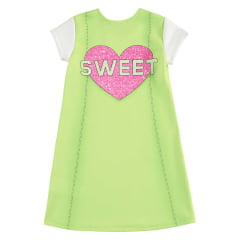 Vestido Kukie Verão Verde Glitter