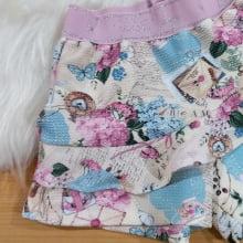 Conjunto Petit Cherie Inverno Shorts Saia Ursinha