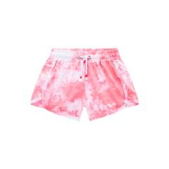 Shorts Infantil Lilimoon Tie Dye Coral
