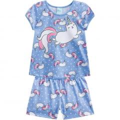 Pijama Infantil Azul Unicornio Kyly