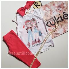 Conjunto Kukie Legging e Blusa Menina