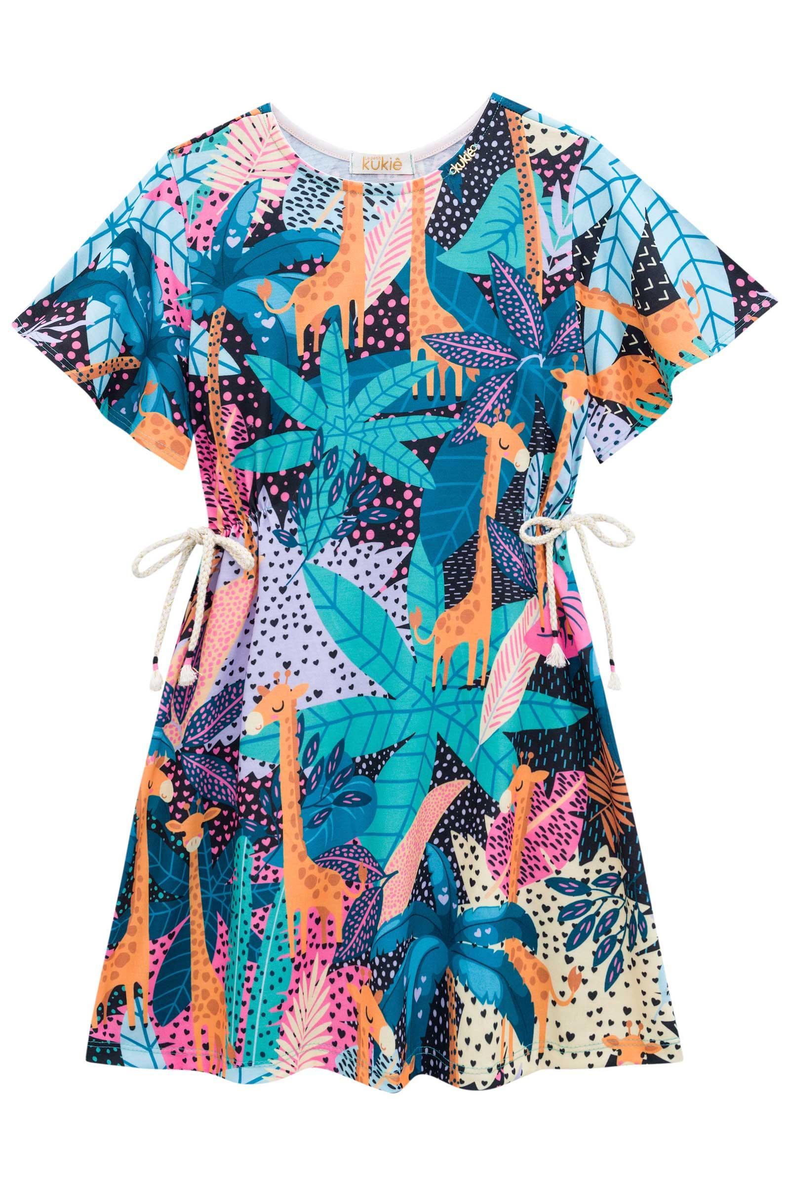 Vestido Kukie Alecrim Verão Girafa