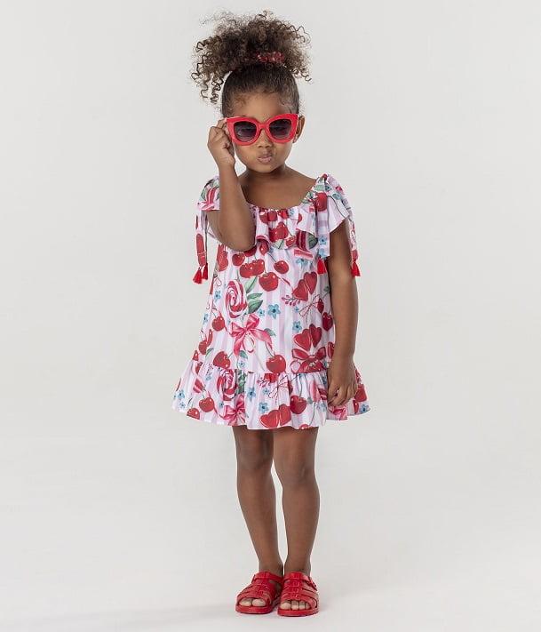 Vestido Mon Sucré Verão Pirulito